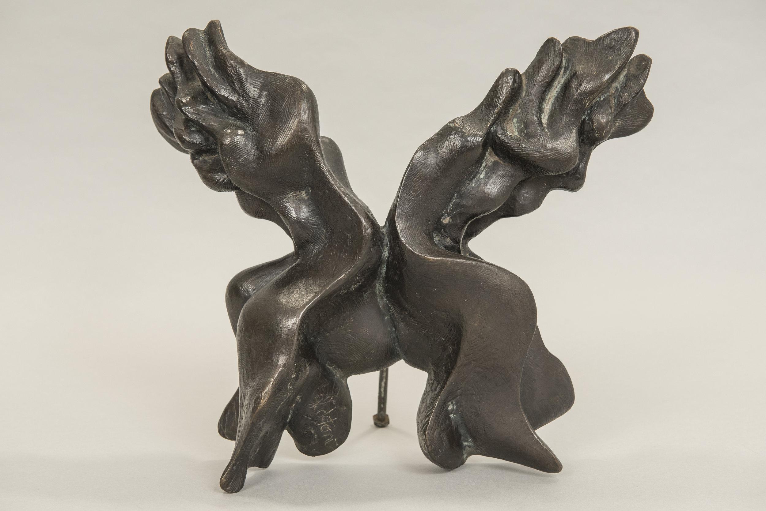 Two figures - bronze sculpture