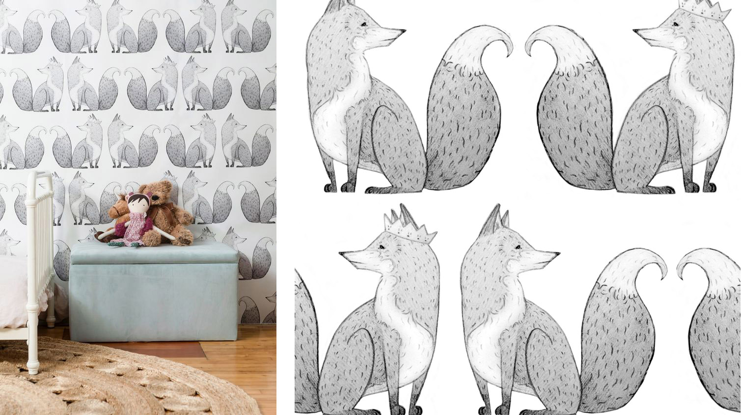 Lulu and Georgia Mr Fox wallpaper room.jpg