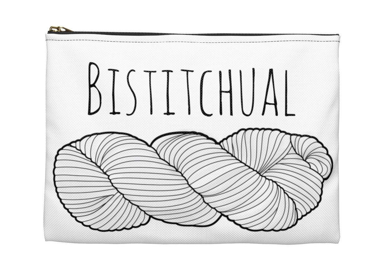 Check out my newest 1 skein zippered project bag! Join the Bistitchual crew & order yours today!