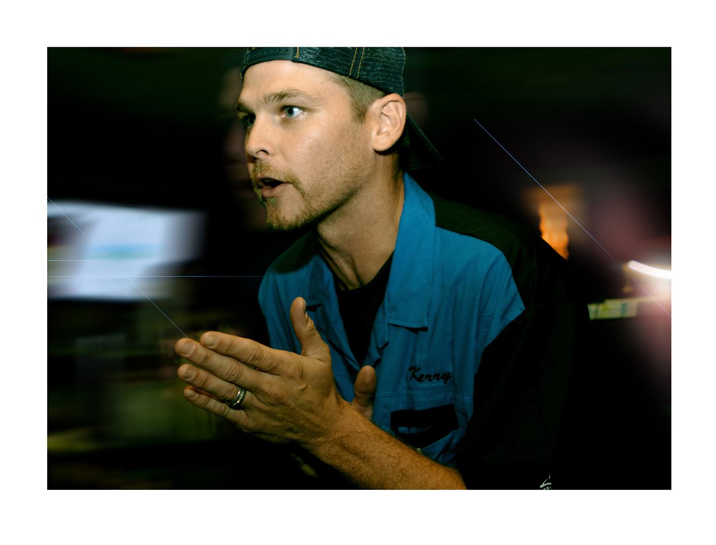Kerry Wood bartending at Kerry Wood's Strike Zone Celebrity Bowling