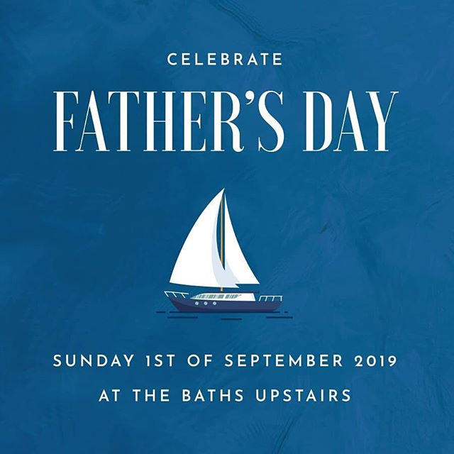 Treat Dad to a special breakfast, lunch or dinner at The Baths Upstairs! Click the link in the bio for more info or to enquire!