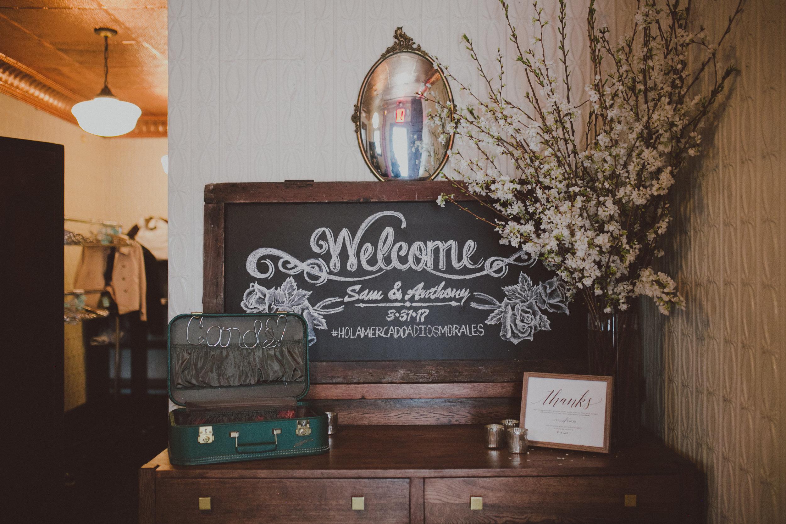 Brooklyn Wedding Welcome Table