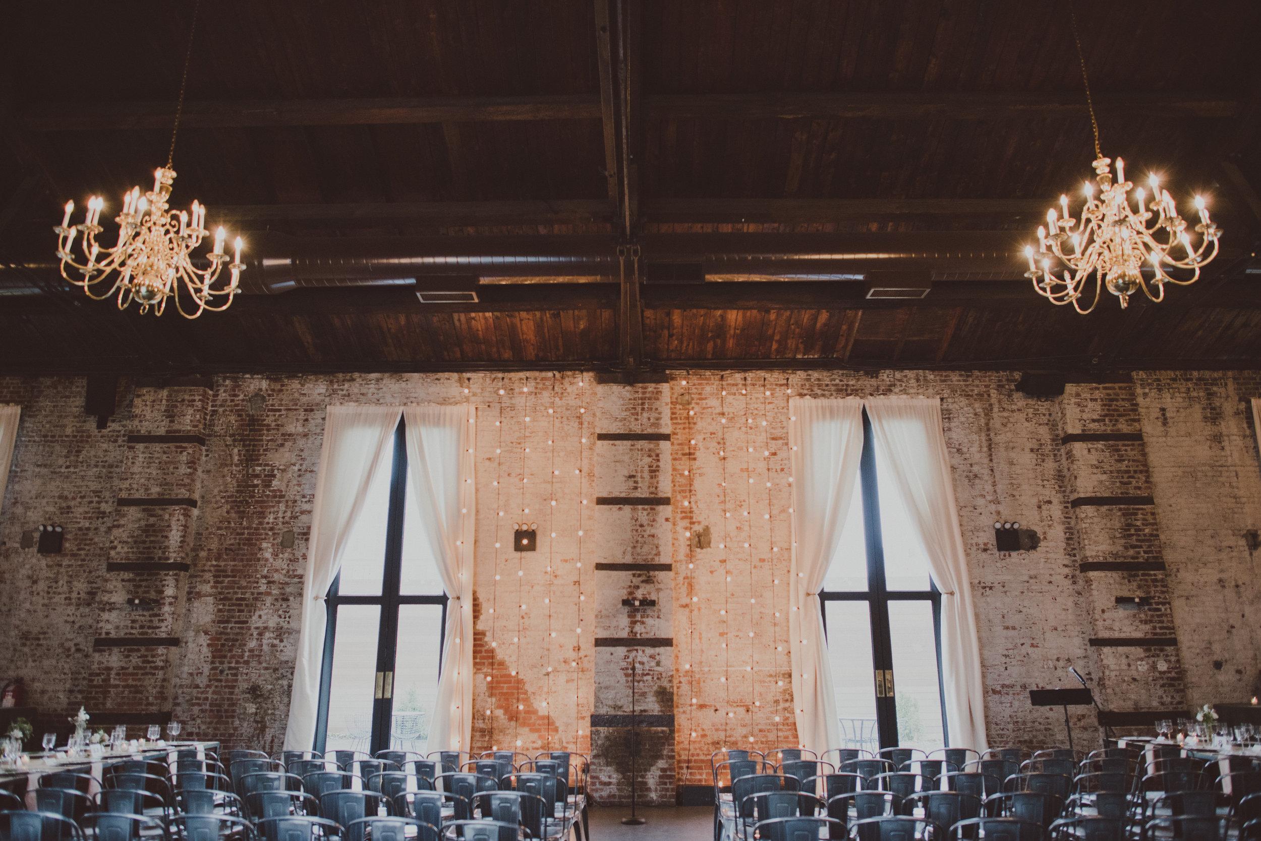 Green Building Wedding Ceremony Setup