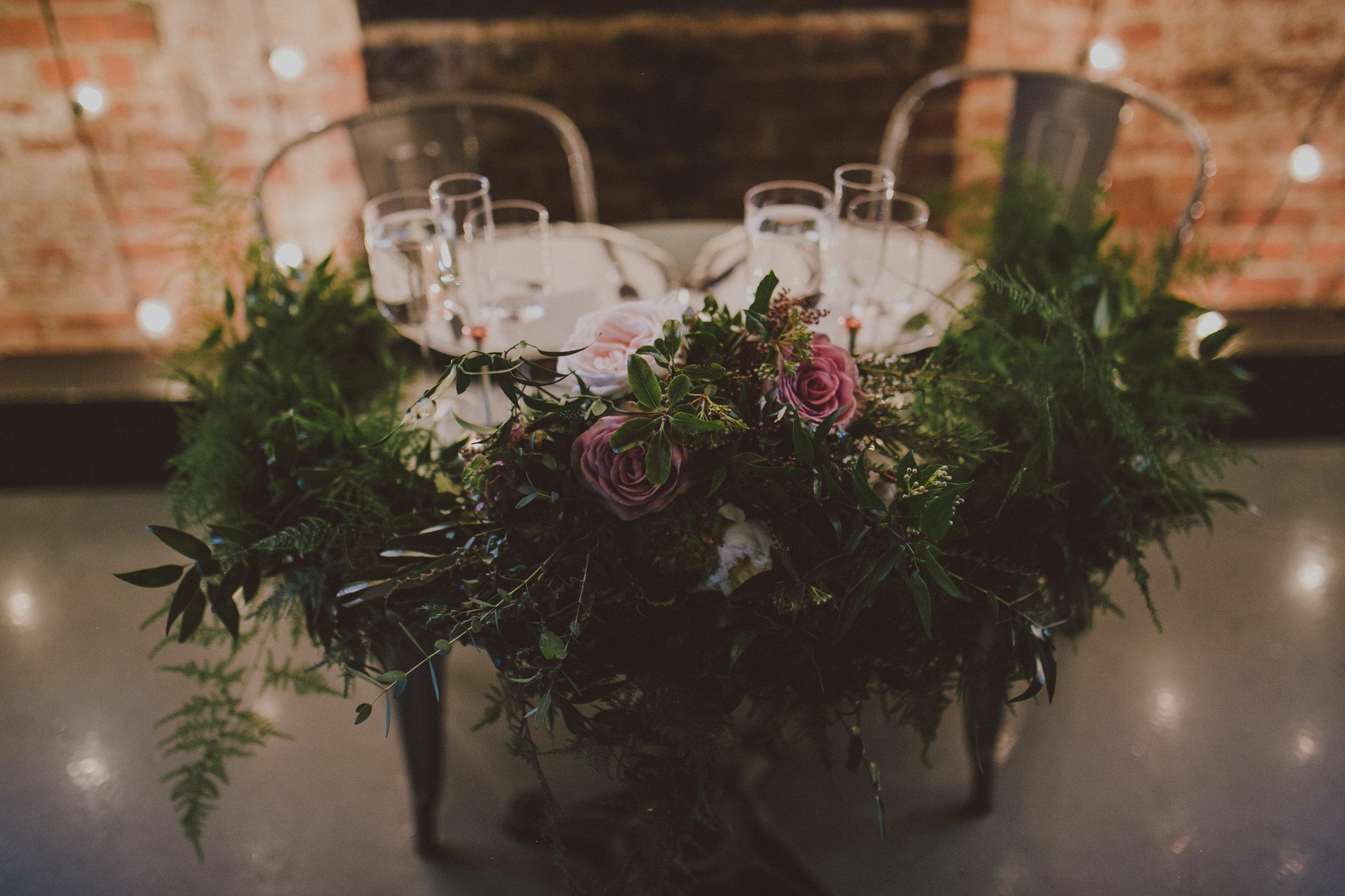 Brooklyn Wedding Sweetheart Table