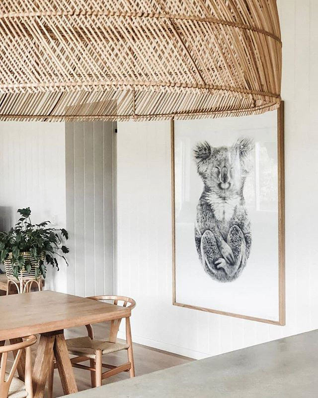 Large floating magic - LOVE @ourshouselife - image: The Alchemist, 1.2m x 1.7m Limited Edition, @carlalfletcher ----- #MargaretRiver #Australia #home #interiordesign #Koala #drawing #LimitedEdition #artist #carlafletcher