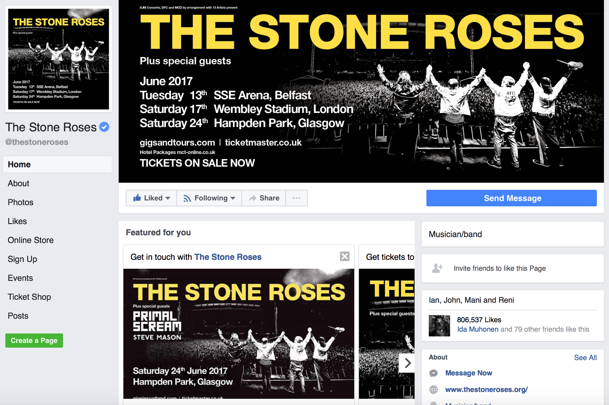 The Stone Roses Facebook Page.png