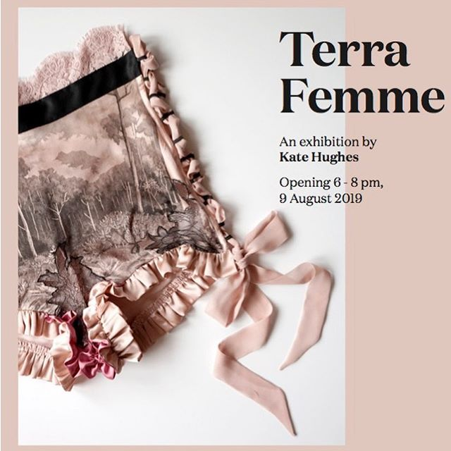Opening tonight at 6pm Terra Femme @airspaceprojects  My exhibition includes lingerie pieces, leather botanical works, etchings on paper and one of my velvet wall hangings.