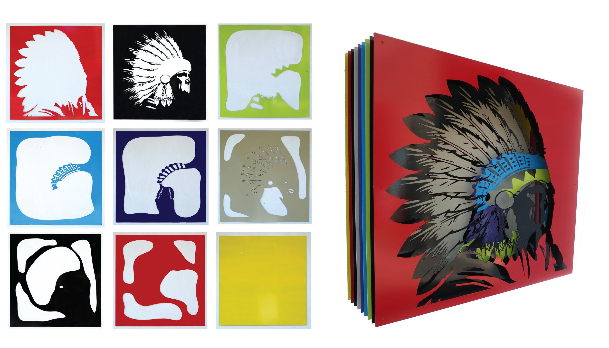 "Native American  42 x 41"""