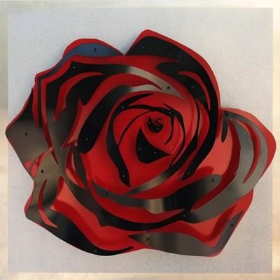 "Rose - Black on Glitter  32 x 32"""