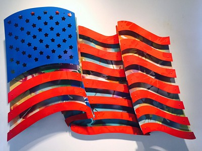 "American Flag - Multi Color   33 x 48"""