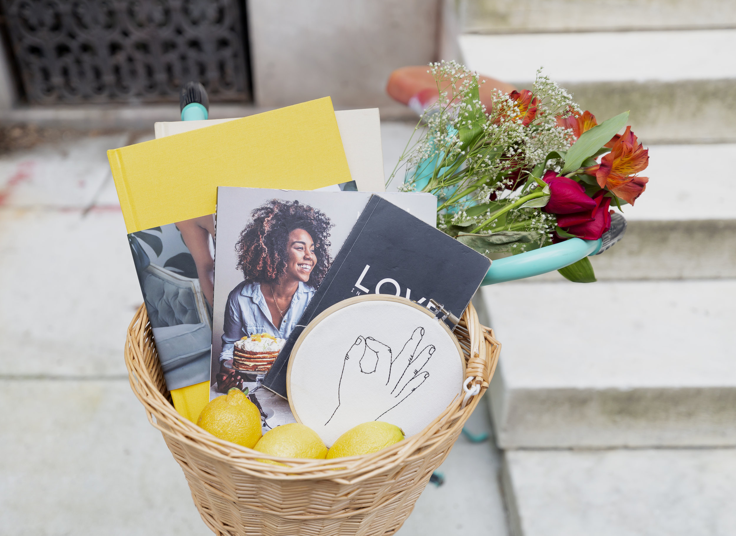 The bike basket filled with black girl magic + lemons