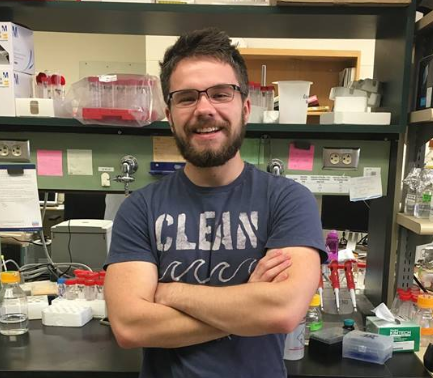Mason Wilkinson (Assistant Researcher)   Mason graduated from the University of Kansas Honors Program with a degree in biochemistry. He is developing new strategies for producing recombinant antimicrobial peptides for  in vitro  studies. Mason loves food, animals, the outdoors, and weightlifting.