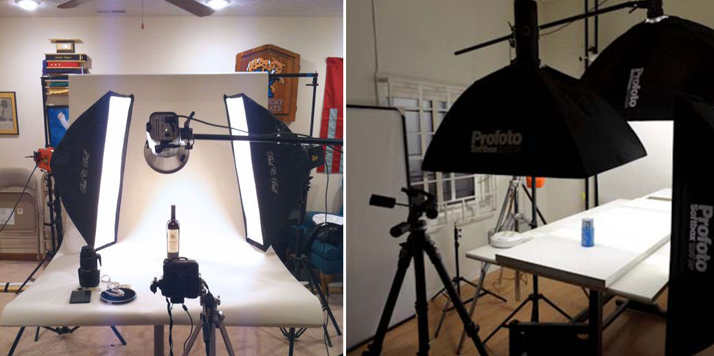 Traditional setups for product photography
