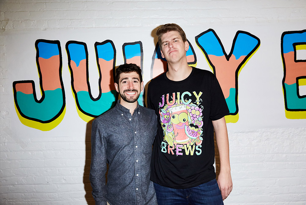 Kenny (left) and Travis (right) at Juicy Brews NYC