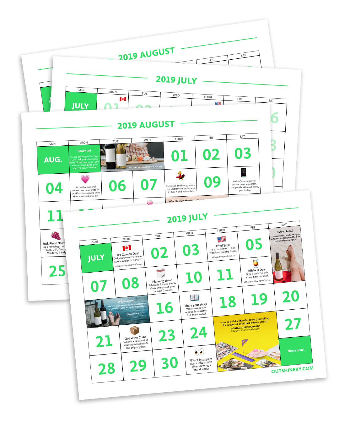 Stay on track this summer - Easy on the eye and actionable. This 2019 printable marketing calendar will help you achieve your most effective summer marketing campaign ever.Find reminders, hashtag suggestions, and turnkey plans to deliver your most effective summer marketing campaign ever.