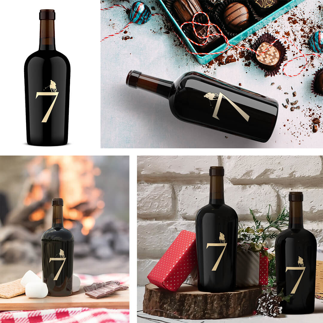 Bottle Shot and Lifestyle Images for King Family Vineyards