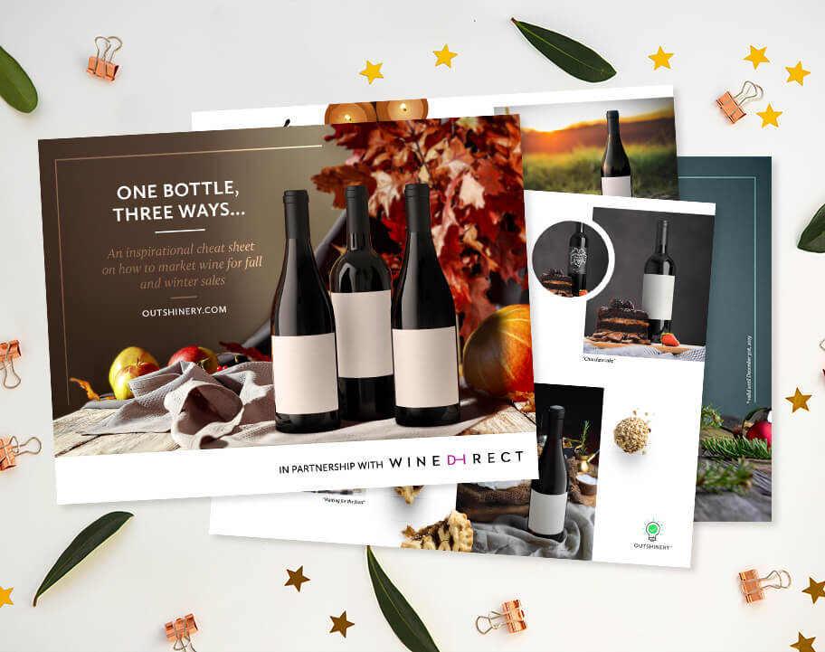 - Make it easy on yourself… Download our inspirational (and very visual!) cheat sheet on how to market one bottle, three ways for fall and winter sales