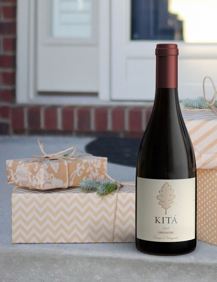 """""""Gift at the door"""" Lifestyle Image for Kita Vineyards"""