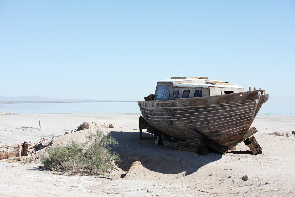 Reminders of a time gone-by when the Salton Sea was a tourist hot spot
