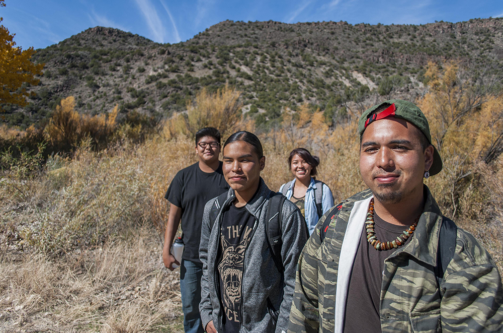 Restoring land with young military veterans, the Bureau of Land Management (BLM) and high school students from the Native American Community Academy (NACA) in Alb