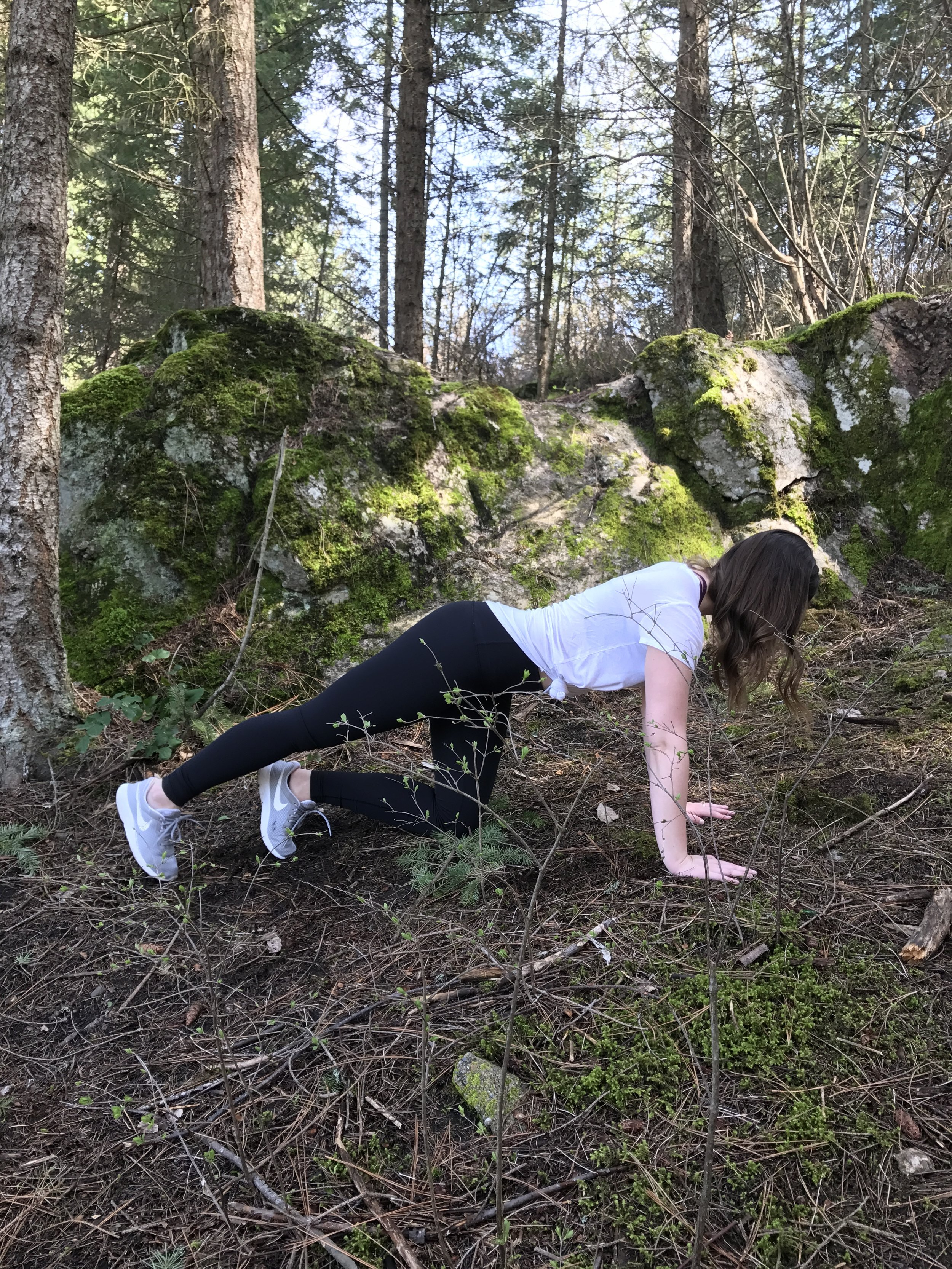 Hold the leg up as it is lifted and slowly tap the big toe down to the ground, repeat x10 both sides.