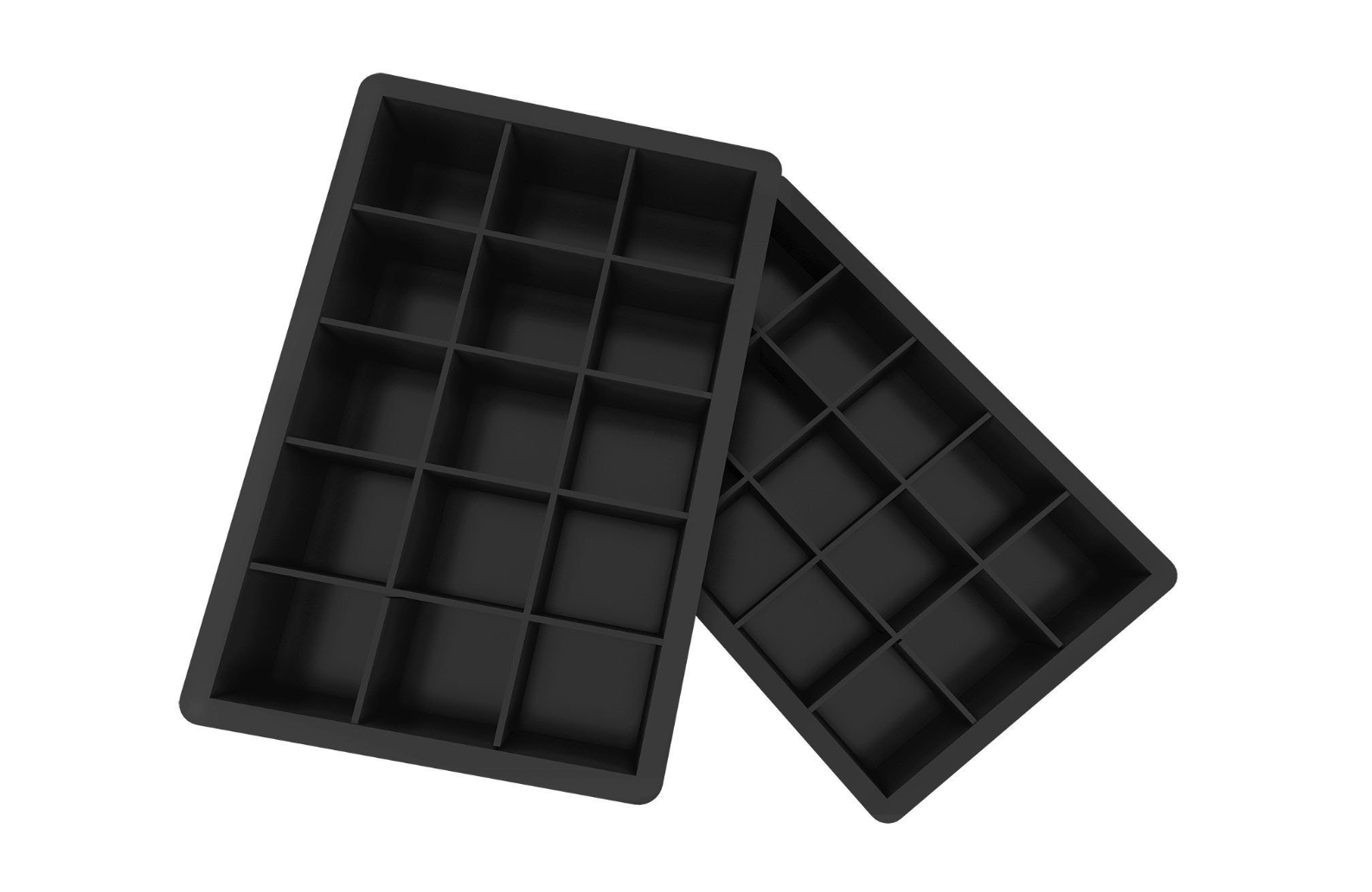 2 Pack Silicone Ice Cube Tray Mold