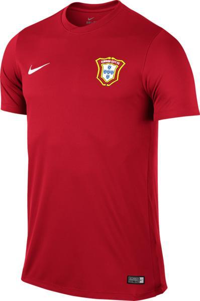 Men's Football Short-Sleeve Jersey (Red)