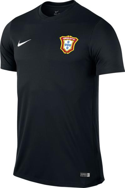 Men's Football Short-Sleeve Jersey (Black)