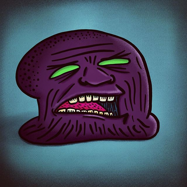 Was testing out a brush and it somehow turned into this creepy evil Thanos chin beanie thingy... enjoy. #kacdc