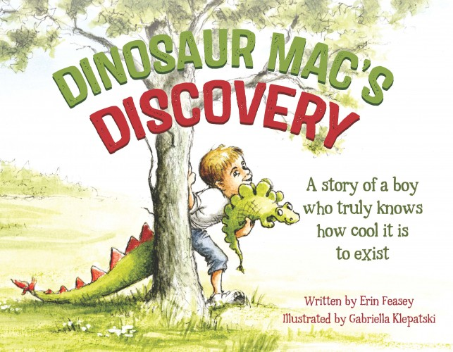 Dinosaur Mac's Discovery, Erin Feasey  ISBN: 978-0-473-30034-0  Mac loves dinosaurs so much that he wears a dinosaur tail all the time, at home, in the playground, even to all his medical appointments. Mac's muscles work differently to those of other kids, and he needs help with balance and strength. When Mac starts using a wheelchair, what will happen to his dinosaur tail?