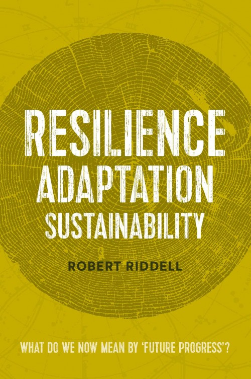 Resilience Adaptation Sustainability,Robert Riddell  Published by Robert Riddell ISBN:978-0-473-29245-4  Around 1970 the planet and our occupation of it was pretty much a situation of balance; the biospheric absorptive and recycling capacity coping with resource uptake and waste discard. Since then a doubled human mass and carbon gas overload has spawned the greenhouse effect that has activated ice field melt, savannah extension, rainforest depletion, waste accumulation and species extinction.   Resilience Adaptation Sustainability  is a prevent-and-adapt advisory. It evokes limits for the growth-on-growth ideology and print money process. It provokes a births-deaths equilibrium,reduced fossil carbon consumption, rainforest restoration and waste recycling. It is about future proofing the next generation.