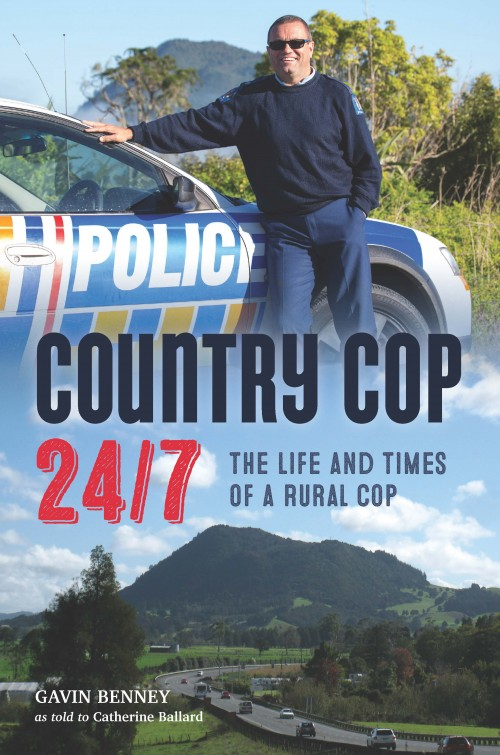Country Cop 24/7,Catherine Ballard  Published by Catherine Ballard ISBN:978-0-473-30024-1  This book tells the story of Gavin Benney's life as a rural policeman in charge of the Hikurangi police district for over 20 years. It is also the story of the Hikurangi district, its people and how it has changed in that time. Police have unparalleled access to all levels of society, they see us in the raw and deal with the dark side of life, the side that those of us in safe, comfortable positions do not want to know about. Gavin dealt with crimes of murder, violence, drugs, thefts, petty vandalism and also with accidents from the horrific to the bizarre and the funny. This is a story of New Zealand rural life.