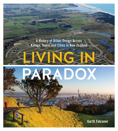 Living in Paradox, Garth Falconer  Published by Blue Acres Publishing ISBN: 978-0-473-30219-1   This landmark book examines the contradictions that form the design of New Zealand's urban landscape. It analyses many of the various trials and pitfalls of the past, and paints an exciting picture of the way things could be in New Zealand's towns and cities.   Living in Paradox explores the dynamic and intriguing story of this young, vigorous and intriguingly complex country. It is an optimistic, far-reaching book which documents the rich history of earlier visions, analyses many of the various trials and pitfalls of the past, and paints an engaging picture of the way things could be in New Zealand's towns and cities. As New Zealanders' are a highly urbanised population this book provides a very relevant and much needed discussion.