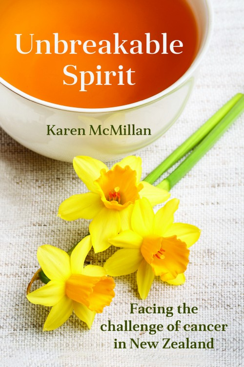 Unbreakable Spirit, Karen McMillan  Published by McKenzie Publishing  An invaluable collection of real life stories of cancer, representing a wide range of circumstances that will provide comfort and help for families facing cancer.   Unbreakable Spirit  is a testimony to the resilience of the human spirit in the face of cancer. It tells the true stories of people who have survived cancer and of those who are terminally ill. It also shares the experiences of people who have had a loved one die from cancer and includes information from hospice workers, oncologists, GPs, a counsellor, surgeon and breast physician.   Unbreakable Spirit  was first published in 2003, and it has helped numerous families facing cancer. In this revised edition, Karen finds out what has happened to many of the people featured in the book and updates their stories. She discusses the advances of medical science in the past decade and other changes. She also tells her own story of being diagnosed with breast cancer in 2011 – a positive story of the importance of early detection through screening, and she includes insightful new chapters from her medical team.