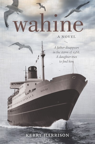 Wahine, Kerry Harrison  ISBN :978-0-473-24514-6  In 2009, a mysterious figure in an Auckland resthome, where an old woman is dying, triggers memories of the Wahine storm of 1968 and its aftermath. After the disapearance of her father Snow in the storm, fifteen-year old, Jude Farley is deposited in a Taranaki boarding school so her mother Kit can escape the memories and get on with her life. But Jude is determined to discover through prayer, pure willpower and recovred memory, the truth behind her father's disapperance. Helping her is a new friend, Huia, her headmistress, the formidable Miss Wallace, and the beauty of Mount Taranaki and its surroundings. Meanwhile, in Auckland Kitty Farley faces her own demons and embarks on her final journey.