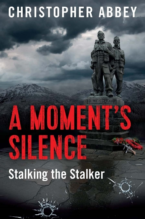 """A Moment's Silence, Christopher Abbey  Published by Mary Egan Publishing ISBN:9780473361891  Set against a backdrop of actual events in 1995, Martyn Percival, a middle-aged New Zealander, seeks adventure on his first OE to the United Kingdom. A chance sighting, providing a possible link between an explosion and the whereabouts of a renegade IRA operative, has him reporting his suspicions to an attractive police sergeant in the Cotswolds. Scotland Yard becomes involved when the bomber is identified as a serial killer who has embarked on a mission seeking revenge on the tourist who """"shopped him"""". Martyn's burgeoning feelings for the sergeant have him agreeing to participate in a planned trap for his nemesis. When this backfires, Martyn returns to New Zealand. Followed by his stalker. Faced with fear for his own survival, Martyn has no alternative but to turn the tables and stalk the stalker. Thus setting up a face-to-face finale in New Zealand's North Island wintry landscape."""