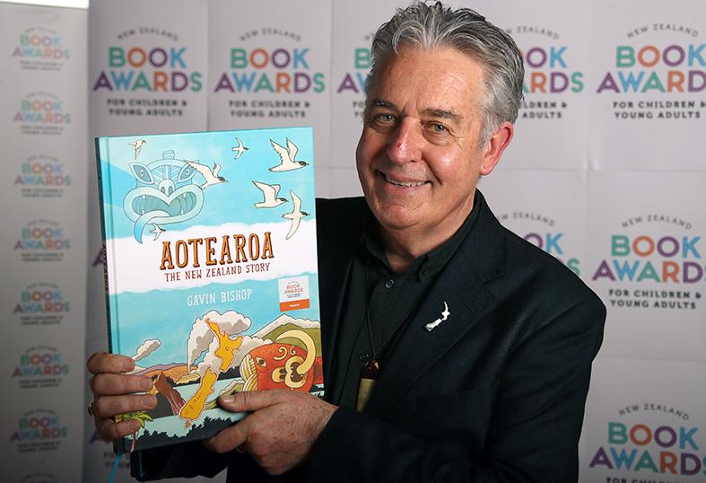 Gavin Bishop, Photo supplied by NZ Book Awards Trust.