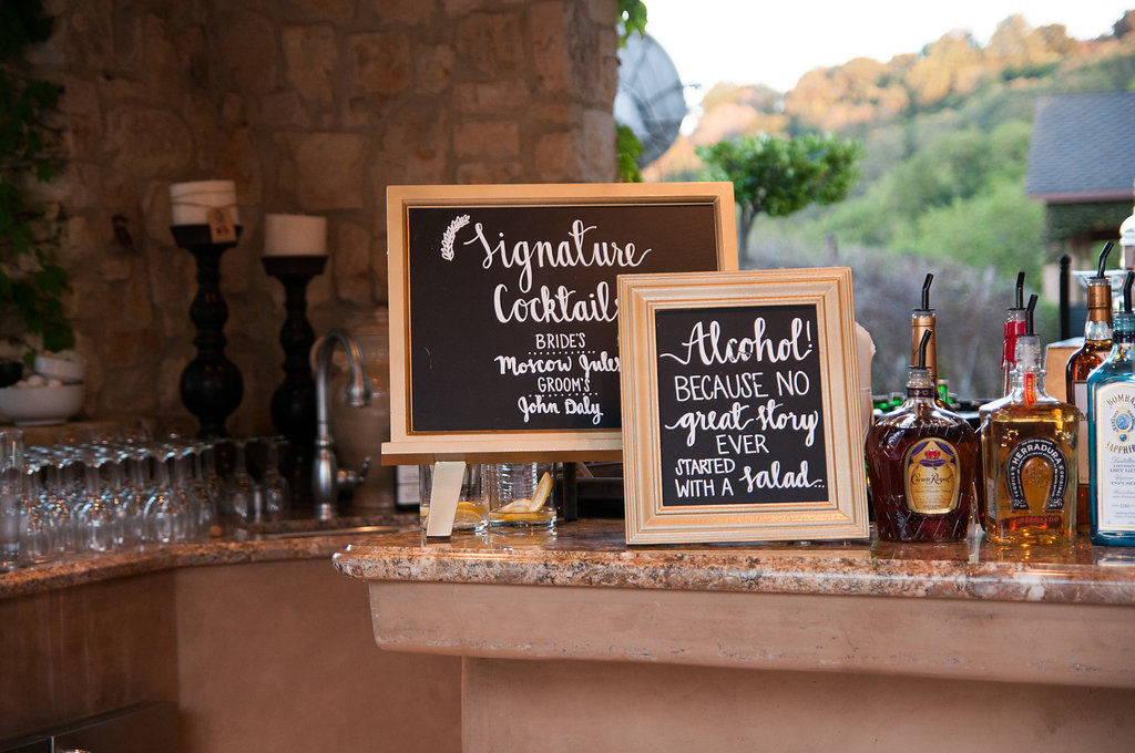 A Beautiful Gathering Bar Menu
