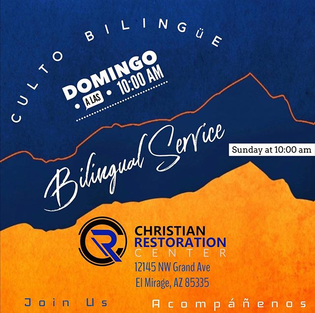 Join us Sunday for our Bi-lingual service. Invite someone. Also, Come be a witness. Invite someone. Baptism in JESUS name this Sunday!