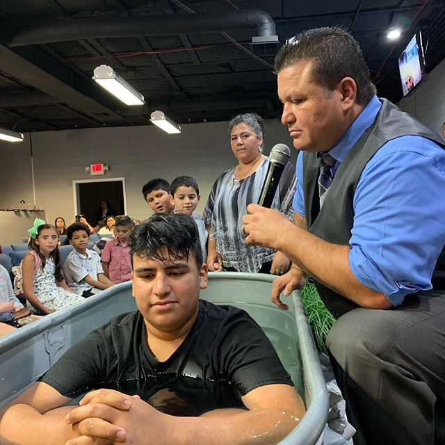 This pass Sunday 7•7•19 we were witnesses in this celebration of salvation! Bro Pete Gardea gave his life to the Lord. Nothing greater than watching the Lord step in & transform a life, then a family one at a time.