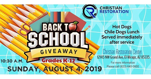 Do you know a family in need of school supplies? Invite them to join us for our 3rd Annual Back to School giveaway sponsored by Roots of Love ministry & CRC. On Aug 4th we will be ministering to all children & families as they begin a new school year. Also, stay & enjoy lunch & fellowship with us. #RootsOfLove🌱❤️ #BackToSchoolService