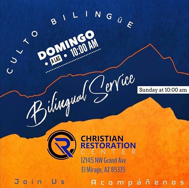 """What Are You Waiting For"" 🔥  Join us this Sunday for our Bi-lingual service and see what the Lord is doing at CRC. Invite someone to receive a word from the Lord."