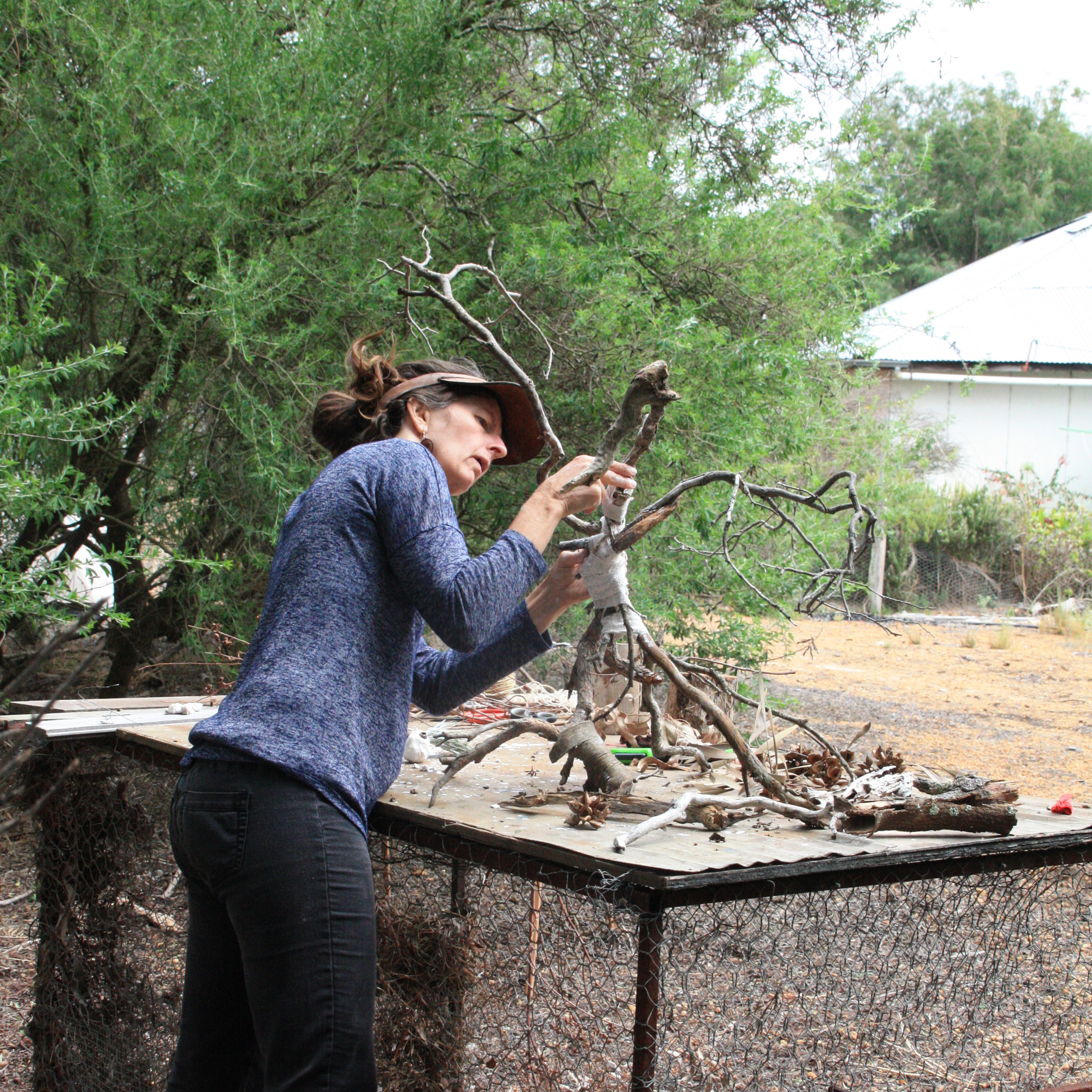 Projects_eco-art retreat 1_Bush creatures with RL 2.jpg