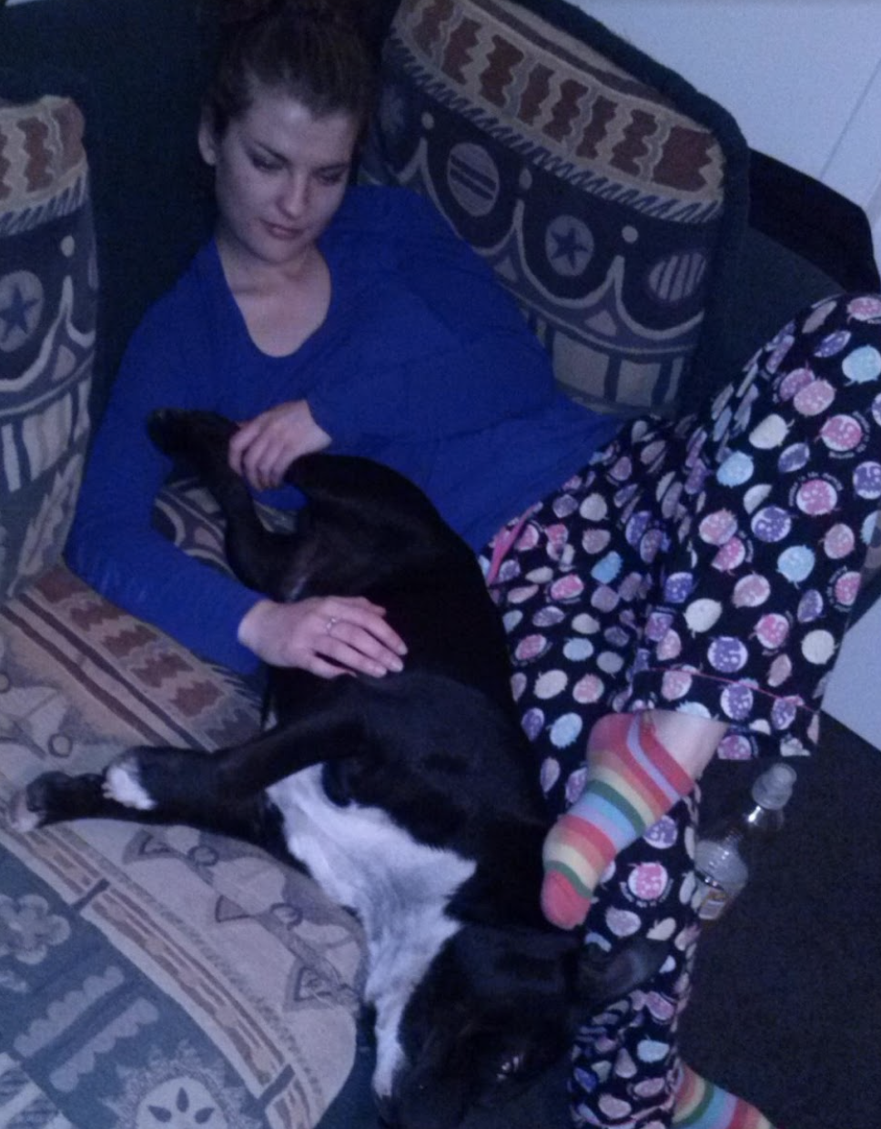 Making friends with my pyjamas (and the dog).