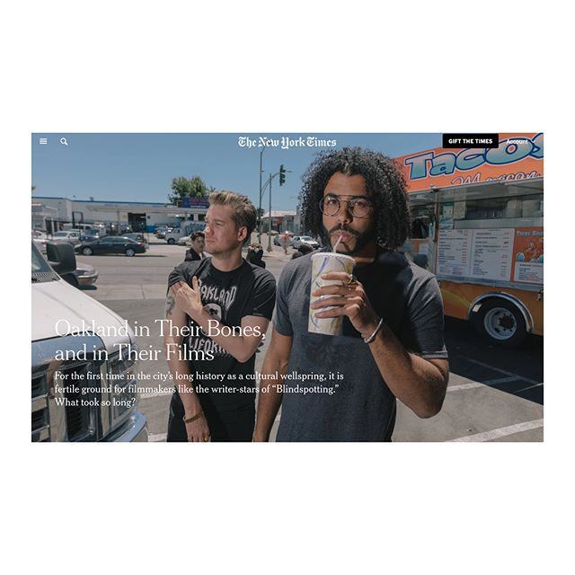 a photo shoot i assisted for @peterprato is out in print today in the @nytimes.  we spent a day touring #oakland with #hamilton star @daveeddiggs and longtime collaborator, friend, writer, actor, and spoken word genius @rafaelcasal, having a wide-ranging conversation on gentrification, tech, and their upcoming movie #blindspotting.  link in profile.  check it!