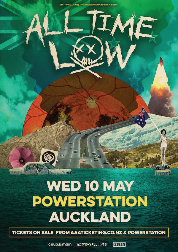 ALL TIME LOW - ALL TIME LOWreturn to our shores for one show only at Auckland's iconic Powerstation on Wednesday 10th May before heading to Australia for their biggest run of headline shows ever.