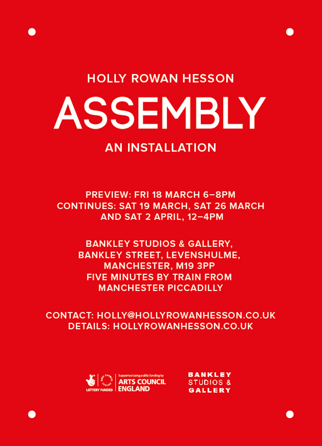 Assembly poster designed by Michael Thorp