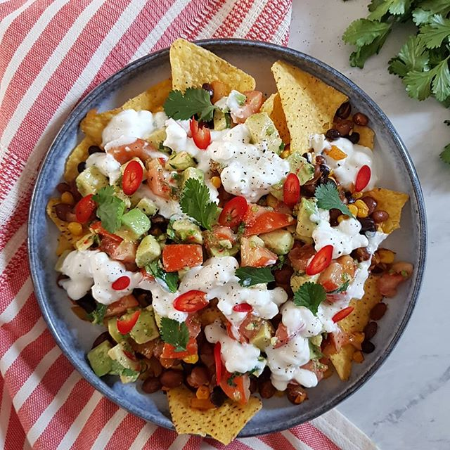 It's a good sign when you end up eating the meal for two you've just tested! Ooops! This is a Mexican bean nachos with avocado and tomato salsa. I'm so full I've taken a break on the couch!! Xx . . . . . . . . #tinybudgetcooking #recipe #food #tasty #lunch #nacho #meal #hungry #feedfeed #delicious #nomnom #picoftheday #instapic #foodgasm #foodgram #yes #foodporn #beauty #photography #chef #delish #yum #foodie #foods #mexico #london