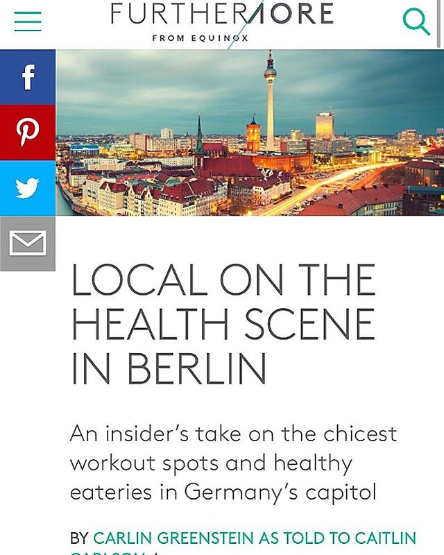 What an honor to be featured in this article about the #Berlin health and fitness scene. Thanks Carlin Greenstein and @equinox for the shoutout! Link in bio. . . . . #berlinfitness #berlinlife #berlinwellness #berlinpilates #pilates #berlinlove #equinox #equinoxmademedoit #holisticpilates #holisticliving