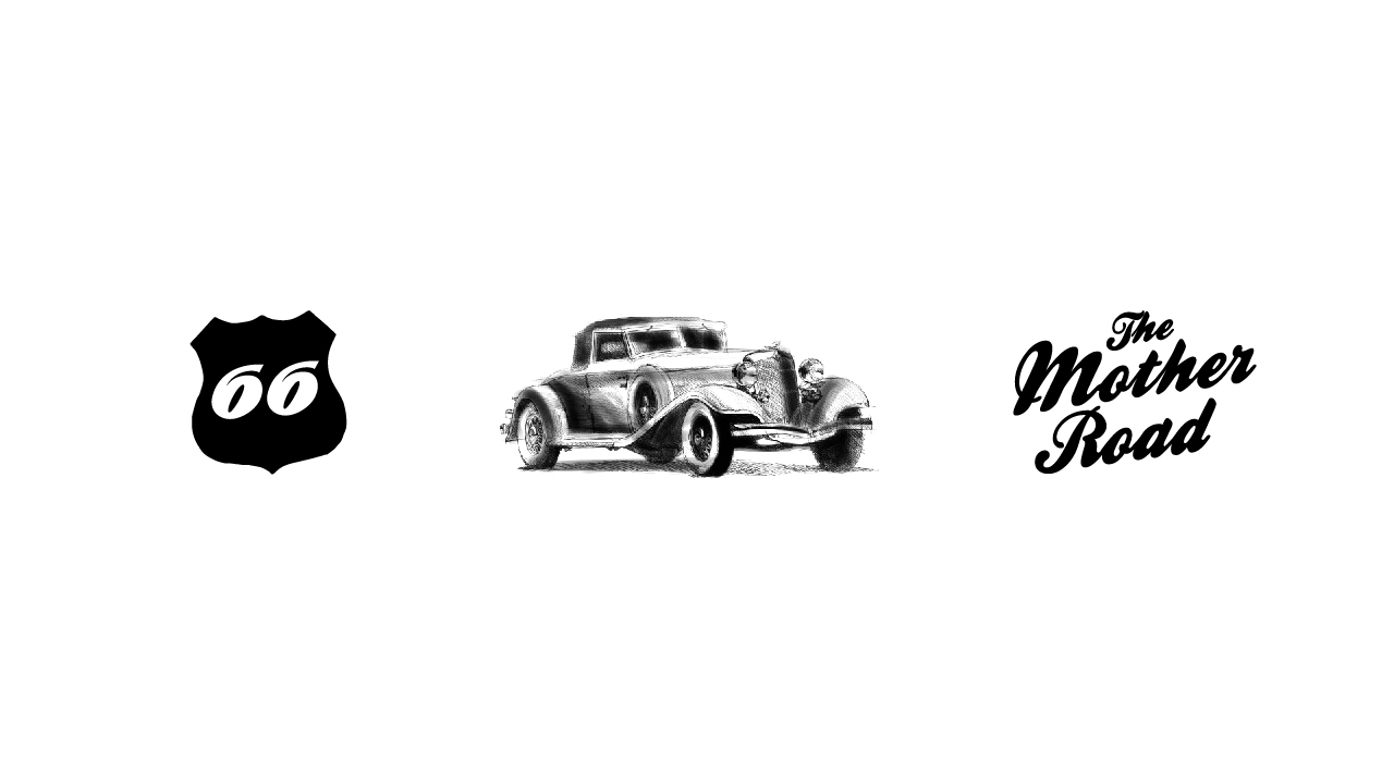 Bisigned ROUTE 66 Style Guide Artwork Elements